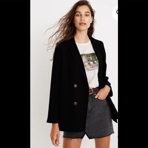 New Madewell Caldwell Double Breasted Blazer small